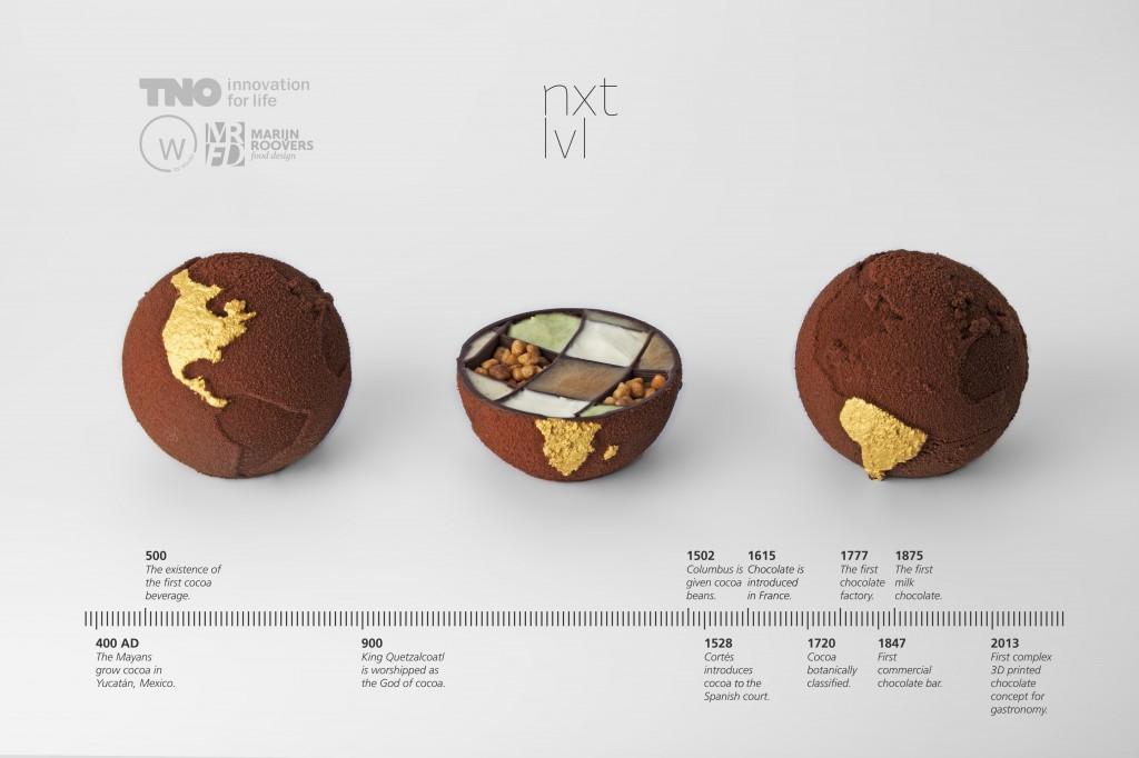 TNO Chocolate globes - open