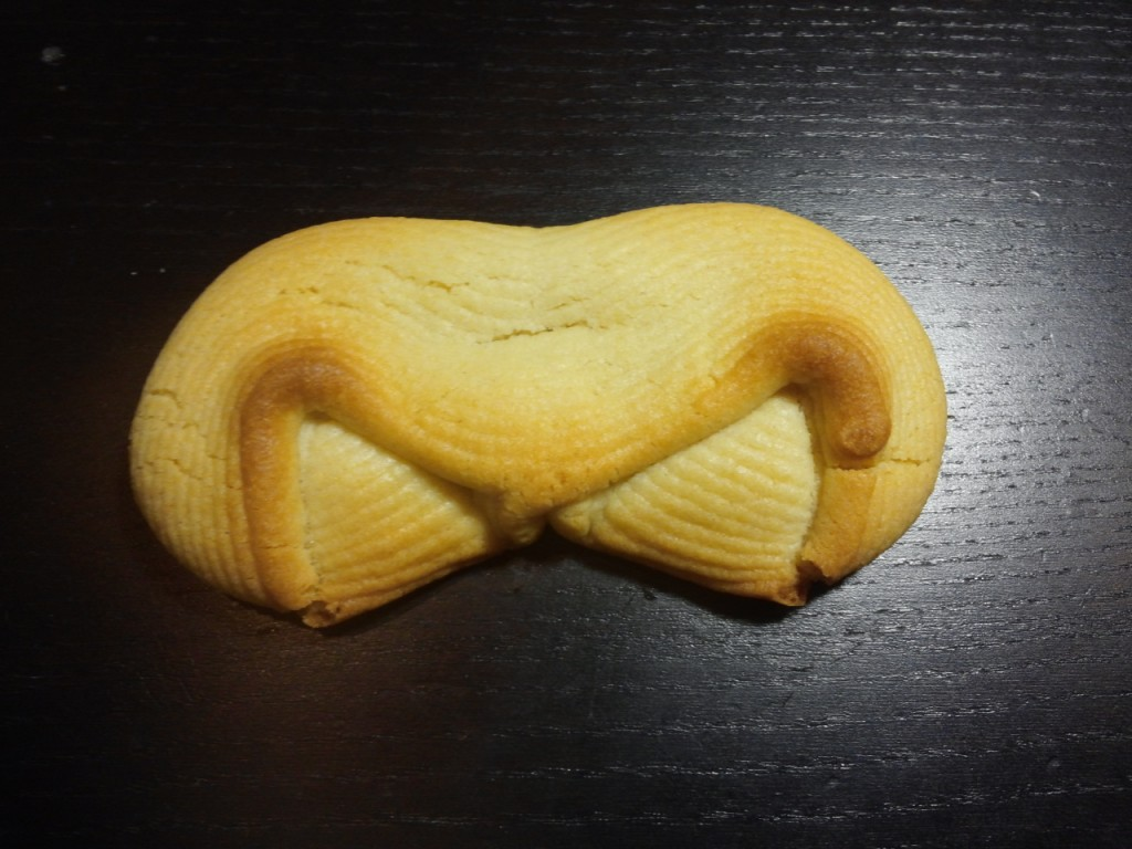 Collapsed 3d printed cookie