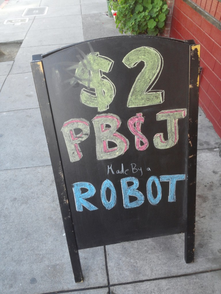 Peanut and Butter Jelly Robot by Bistrobot
