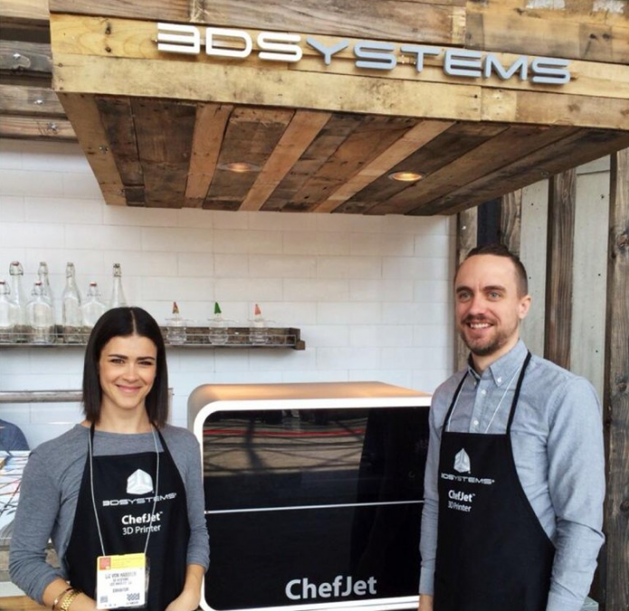 Culinary Lab's Liz and Kyle with the ChefJet