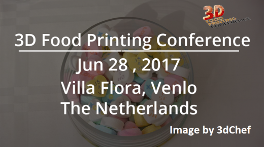 The 3d food printing conference is back!